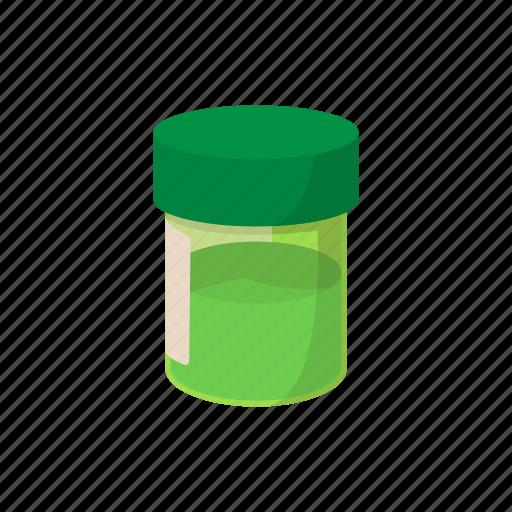 bottle, cannabis, cartoon, hemp, marijuana, medicinal, weed icon