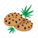 cake, cartoon, chocolate, drug, ganja, leaf, medicine icon