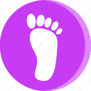 anatomy, body, foot, human, part, parts, print icon
