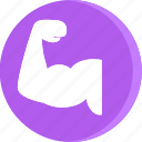 anatomy, arm, body, bycep, human, male, muscle icon