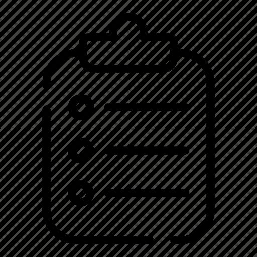 checklist, healthcare, hospital, medical, note, notice, treatment icon