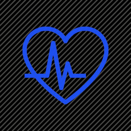 beat, heart, heartbeat, heartcare, medical, pulse icon