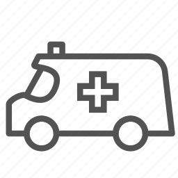 ambulance, car, cross, medical, vehicle icon