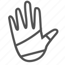 hand, injury, wrap icon