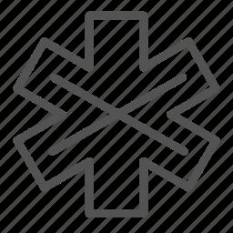 cross, intersection, mark icon