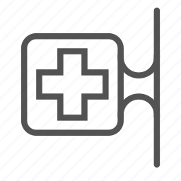 cross, doctor, medical, pharmacy icon