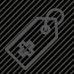 cross, hospital, medical, tag icon