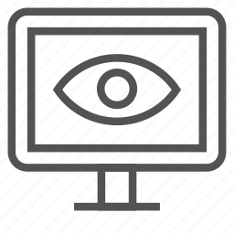 eye, monitor, screen icon