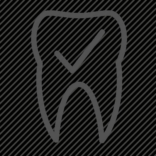 check, ok, teeth, tooth icon