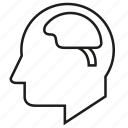 brain, hean, human, organ, think icon