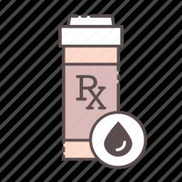 blood, bottle, fnl, medical, rx, wellness icon