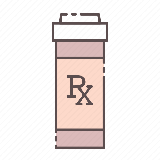 bottle, medical, rx, wellness icon