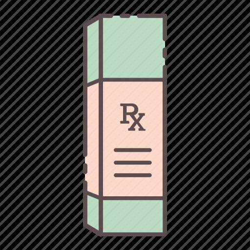 box, medical, rx, wellness icon