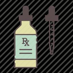 dropper, medical, rx, wellness icon