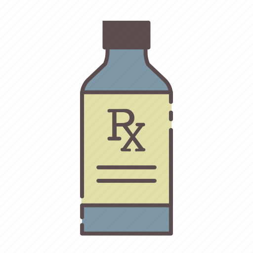 bottle, liquid, medical, rx, wellness icon