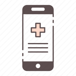 medical, outline, phone, rx, wellness icon