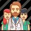 avatar, care, doctor, medical care, medicine, teamwork medicinal, therapist icon