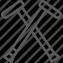 cane, crutch, crutches, orthopedic, stick, support, wooden icon