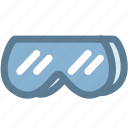 glasses, goggles, mask, protective, safety glasses, science, toxins icon