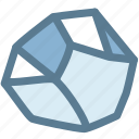 crystal, gem, gemstone, mineral, rock, science icon