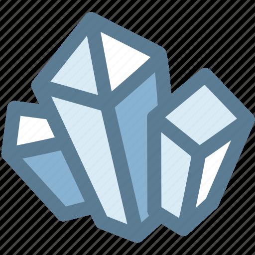 crystal, gem, gemstone, mineral, rock icon