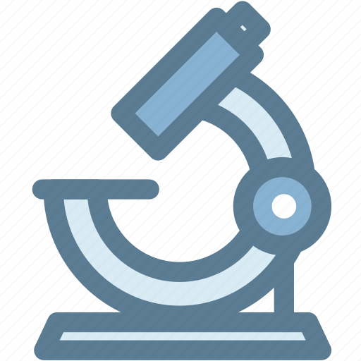 biology, laboratory, microscope, science, view icon