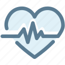 cardiogram, favorite, heart, heartbeat, love, medical, pulse icon