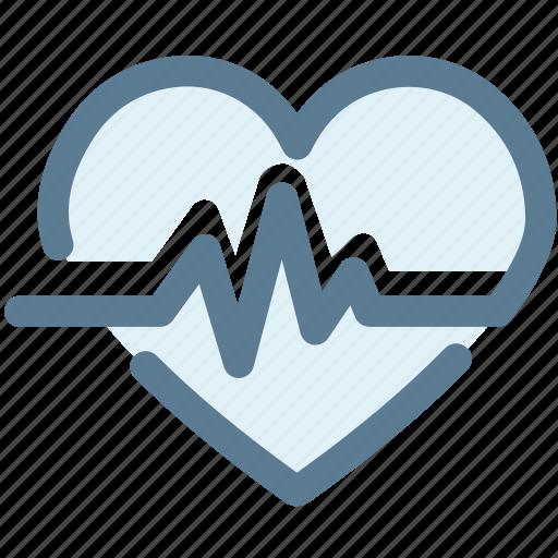 cardiogram, favorite, heart, heartbeat, love, medical, pulse icon