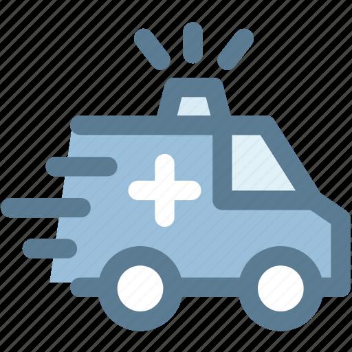 ambulance, car, emergency, medical, medicine, vehicle icon
