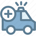 ambulance, car, emergency, medical, medicine, vehicle icon