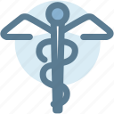 caduceus, medical, medical symbol, pharmacy, snakes, wings icon