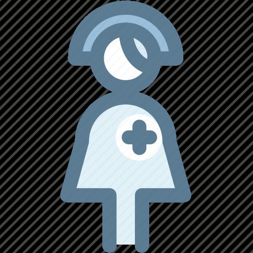 female nurse, hospital, hospital staff, medical, nurse icon