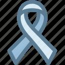awareness ribbon, band, cancer, drugs, medical, ribbon, strip icon