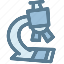 biology, equipment, learn, microscope, research, science, zoom icon