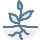 plant roots, root, roots, science, sprout, tree roots icon