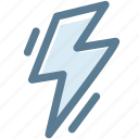 bolt, electric, flash, lightning bolt, science, volt icon