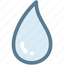 drop, droplet, rain drops, science, water, water drop icon