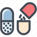 capsule, drugs, medical, medicament, medicine, pill, pills icon