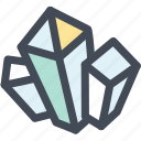 crystal, gem, gemstone, mineral, rock icon