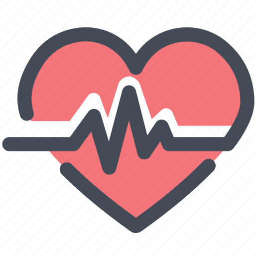 cardiogram, heart, heartbeat, love, medical, pulse icon
