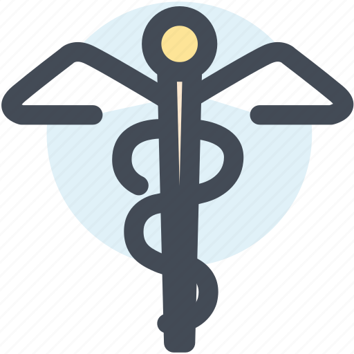 caduceus, drugs, medical, medical symbol, snakes, wings icon