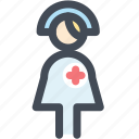 female nurse, hospital, hospital staff, medical, nurse icon