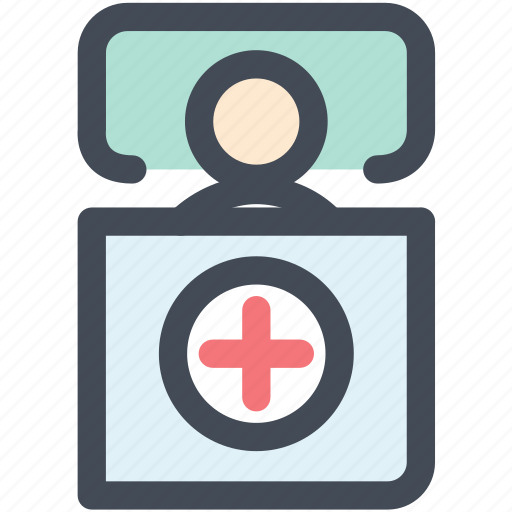 health care, hospital bed, medical, medical bed, medical care, patient, sick icon