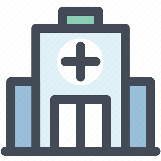 health clinic, hospital, hospital building, medical, medical center, medical facility icon