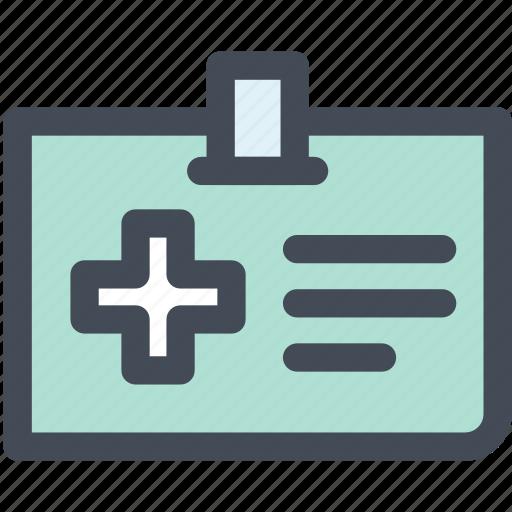 doctor, hospital, information, insurance, medical, medical card icon