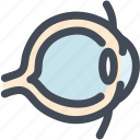 eye, eyeball, human, organ, organs, science, sight icon