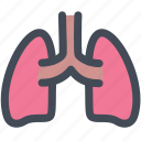 internal organ, lung, lungs, medical, organ, organs, science icon