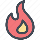 fire, firing, flame, hot, popular, science icon
