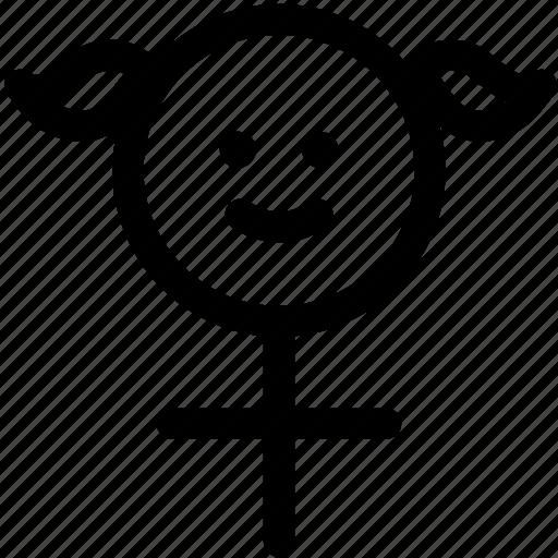 female, girl, science, sex, venus, woman icon