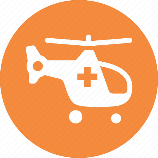 ambulance, emergency, helicopter icon